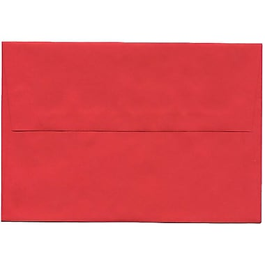 JAM Paper® A8 Invitation Envelopes, 5.5 x 8.125, Brite Hue Red Recycled, 250/Pack (27799H)