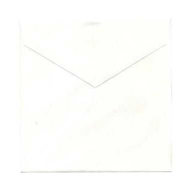 JAM Paper® 7.5 x 7.5 Square Envelopes, Natural White with V-Flap, 50/Pack (27912565I)