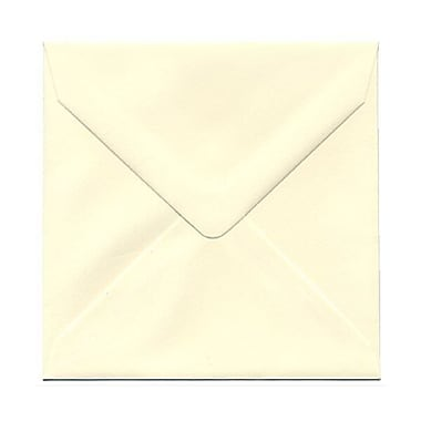 JAM Paper® 5 x 5 Square Envelopes, Ivory with V-Flap, 250/box (2792256H)