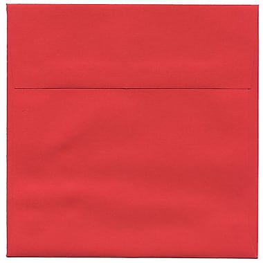 JAM Paper® 6.5 x 6.5 Square Envelopes, Brite Hue Red Recycled, 250/Pack (2792283H)
