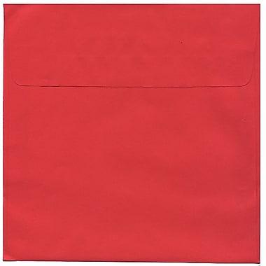 JAM PaperMD – Enveloppes carrées Brite Hue de 8,5 po, rouge festif, 50/paquet