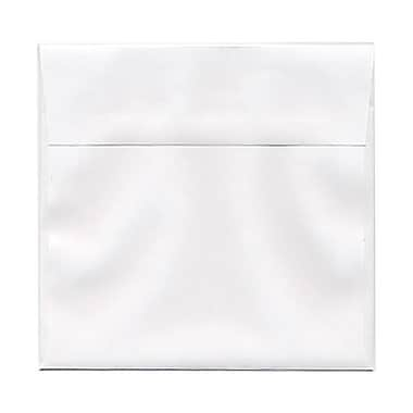 JAM PaperMD – Enveloppes de 6,5 x 6,5 po, blanc, 50/paquet