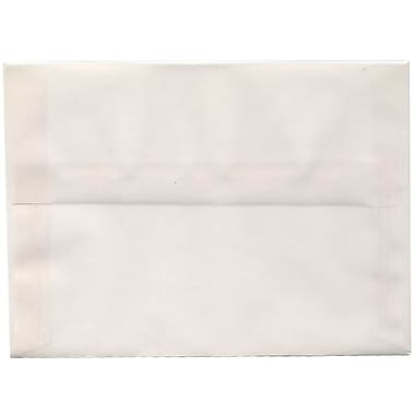 JAM Paper® A7 Invitation Envelopes, 5.25 x 7.25, Clear Translucent Vellum, 50/Pack (2851295I)