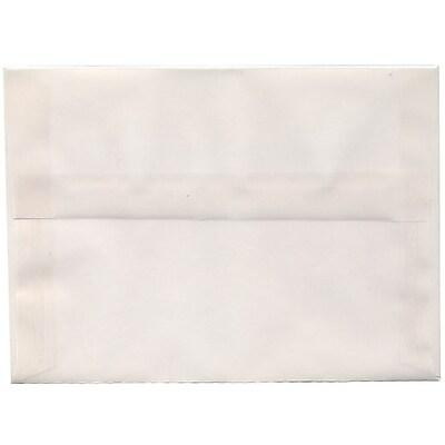 JAM Paper® A7 Invitation Envelopes, 5.25 x 7.25, Clear Translucent Vellum, 50/pack (2851295I)