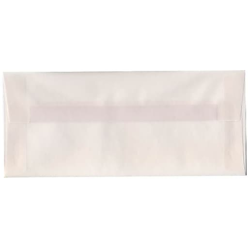 JAM Paper® #10 Business Translucent Vellum Envelopes, 4.125 x 9.5, Clear, 50/Pack (2851306I)