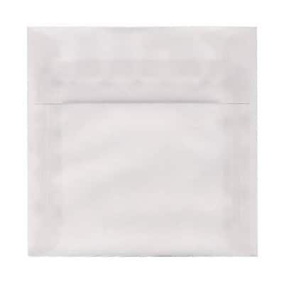 JAM Paper® 7.5 x 7.5 Square Envelopes, Clear Translucent Vellum, 50/pack (81981I)