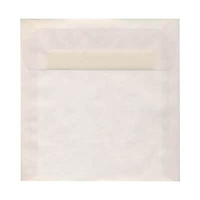 JAM Paper® 8 x 8 Square Envelopes, Clear Translucent Vellum, 50/pack (51287I)