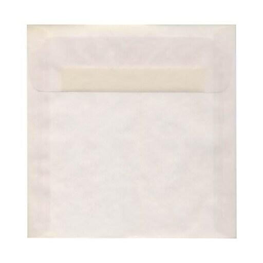JAM Paper® 9 x 9 Square Translucent Vellum Invitation Envelopes, Clear, 50/Pack (2851355I)