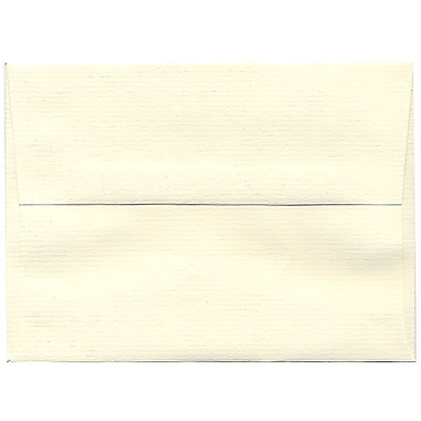 JAM Paper® A6 Invitation Envelopes, 4.75 x 6.5, Strathmore Natural White Laid, 250/box (29376H)