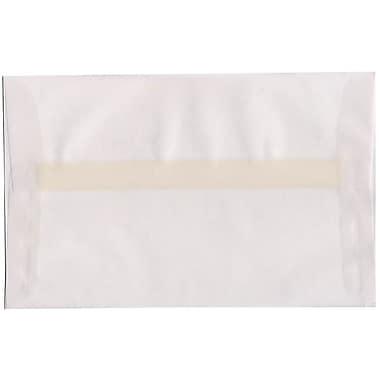 JAM Paper – Enveloppes translucides A10, incolores, 250/paquet