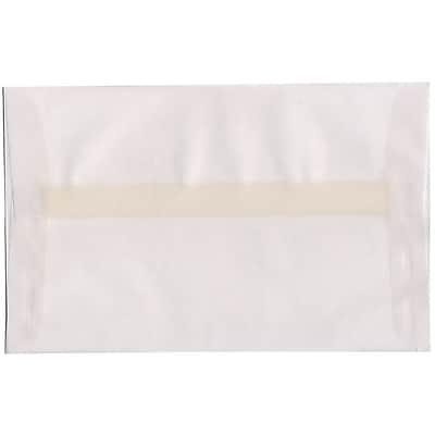 JAM Paper® A10 Invitation Envelopes, 6 x 9.5, Translucent Vellum Clear, 50/pack (31284I)