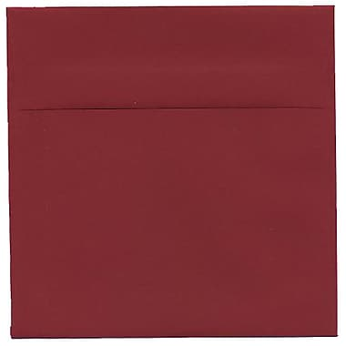 JAM Paper® 6 x 6 Square Envelopes, Dark Red, 50/Pack (31511296I)