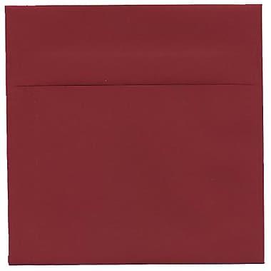 JAM Paper – Enveloppes simples carrées, 6 x 6 po, rouge foncé, 250/paquet