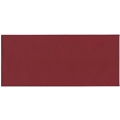 JAM Paper® #10 Business Envelopes, 4 1/8 x 9 1/2, Dark Red, 500/box (31511298H)