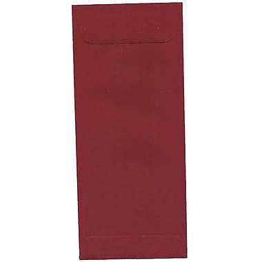 JAM Paper – Enveloppes commerciales foncées nº 10 (4,13 x 9,5 po) en papier brut, rouge, boîte de 500