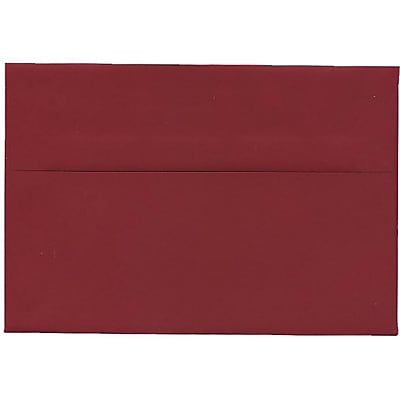 JAM Paper® A8 Invitation Envelopes, 5.5 x 8.125, Dark Red, 250/box (31511319H)
