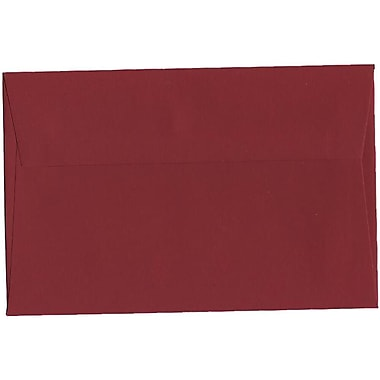 JAM Paper – Enveloppes A9 nuances foncées, rouge foncé, 250/paquet