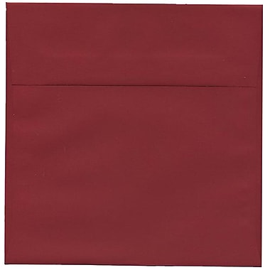 JAM Paper® 8.5 x 8.5 Square Envelopes, Dark Red, 50/Pack (31511323I)