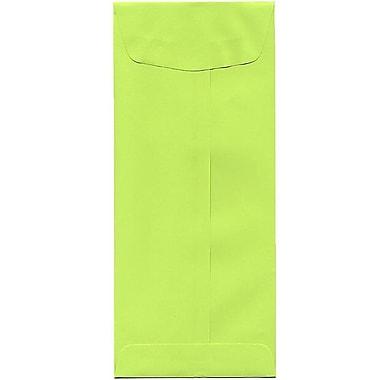 JAM Paper – Enveloppes recyclées Brite Hue no 11, 4,5 x 10,38 po, lime intense, 500/paquet