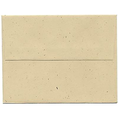 JAM Paper® A2 Invitation Envelopes, 4 3/8 x 5 3/4, Husk Brown Recycled, 50/pack (3180I)