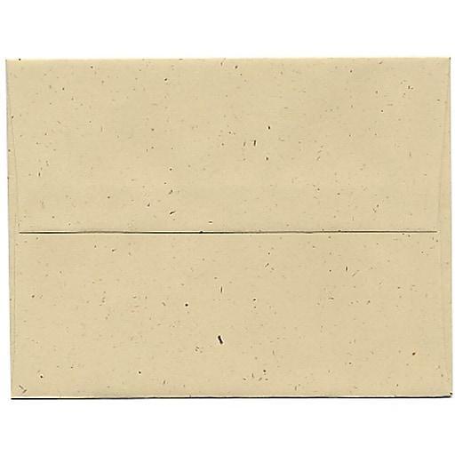 JAM Paper® A2 Recycled Invitation Envelopes, 4.375 x 5.75, Genesis Husk, Bulk 250/Box (3180H)