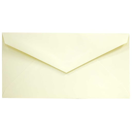 JAM Paper® Monarch Strathmore Invitation Envelopes, 3.875 x 7.5, Ivory Wove, Bulk 500/Box (3197718H)