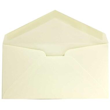 JAM Paper® Monarch Envelopes, 3 7/8 x 7 1/2, Strathmore Ivory Wove, 50/pack (3197718I)