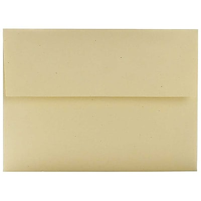JAM Paper® A6 Invitation Envelopes, 4.75 x 6.5, Husk Brown Recycled, 250/box (3198H)
