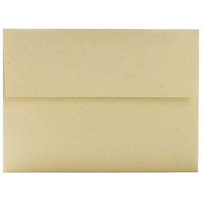 JAM Paper® A6 Invitation Envelopes, 4.75 x 6.5, Husk Brown Recycled, 50/pack (3198I)