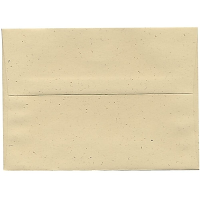 JAM Paper® A7 Invitation Envelopes, 5.25 x 7.25, Husk Brown Recycled, 50/pack (3206I)