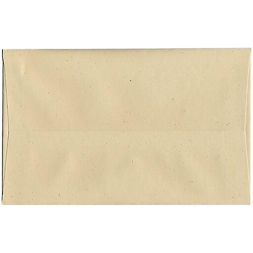 JAM Paper® A10 Recycled Invitation Envelopes, 6 x 9.5, Genesis Husk, 50/Pack (3222I)
