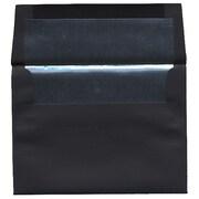 JAM Paper – Enveloppes A6 en papier recyclé noir à revers argenté, 50/pqt