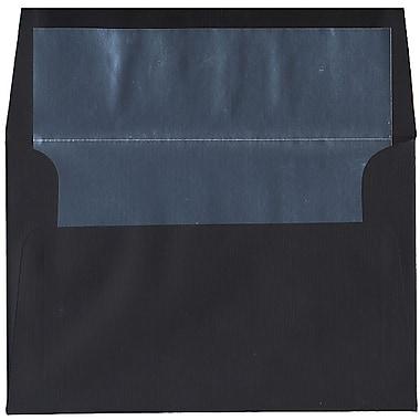 JAM Paper – Enveloppes A8 en papier recyclé, lin noir et argenté, 250/paquet