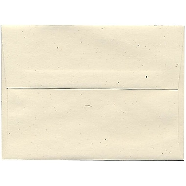 JAM Paper® A6 Invitation Envelopes, 4.75 x 6.5, Milkweed Ivory Recycled, 250/Pack (3289H)