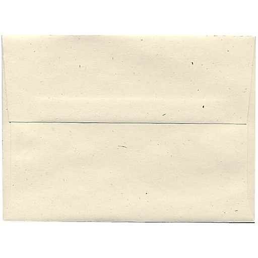 JAM Paper® A6 Recycled Invitation Envelopes, 4.75 x 6.5, Milkweed Genesis, Bulk 250/Box (3289H)