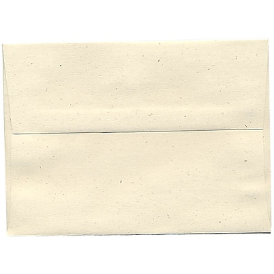 JAM Paper® A7 Invitation Envelopes, 5.25 x 7.25, Milkweed Ivory Recycled, 250/box (3297H)