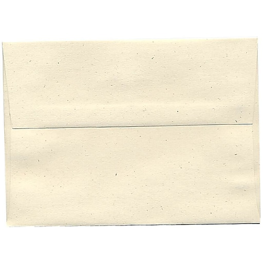 JAM Paper® A7 Recycled Invitation Envelopes, 5.25 x 7.25, Milkweed Genesis, 50/Pack (3297I)