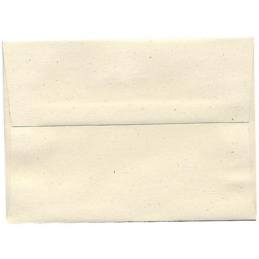 JAM Paper® A7 Recycled Invitation Envelopes, 5.25 x 7.25, Milkweed Genesis, Bulk 250/Box (3297H)