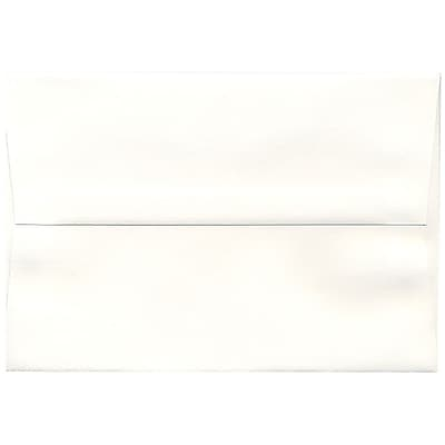 JAM Paper® A8 Invitation Envelopes, 5.5 x 8.125, Strathmore Bright White Laid, 50/pack (33028I)