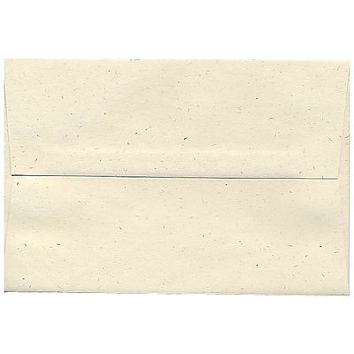 JAM Paper® A8 Invitation Envelopes, 5.5 x 8.125, Milkweed Ivory Recycled, 250/box (3305H)