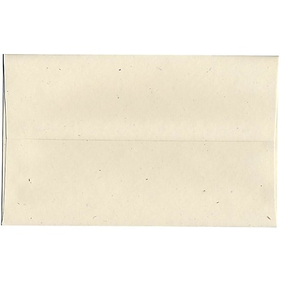 JAM Paper® A10 Invitation Envelopes, 6 x 9.5, Milkweed Ivory Recycled, 50/pack (3313I)