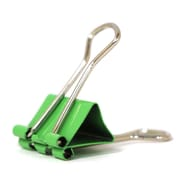 JAM Paper® Colored Binder Clips, Small, 19mm, Green Binderclips 25/pack (334BCGR)