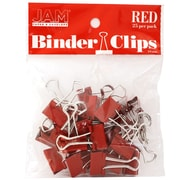JAM Paper Small 19mm Binder Clips, 25/Pack