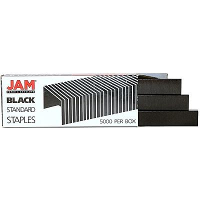 JAM Paper® Standard Size Colorful Staples, Black, 5000/box (335BL)