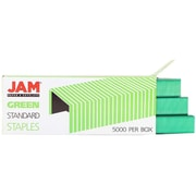 JAM Paper® Standard Size Colorful Staples, Green, 5000/box (335GR)