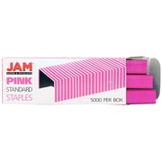 JAM Paper® Standard Size Colorful Staples, Pink, 5000/box (335PI)