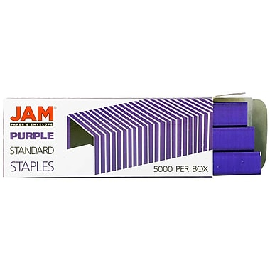 JAM Paper® Standard Size Colorful Staples, Purple, 5000/box (335PU)