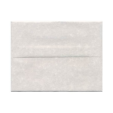 JAM Paper® A2 Invitation Envelopes, 4.38 x 5.75, Parchment Pewter Grey Recycled, 250/Pack (34876H)
