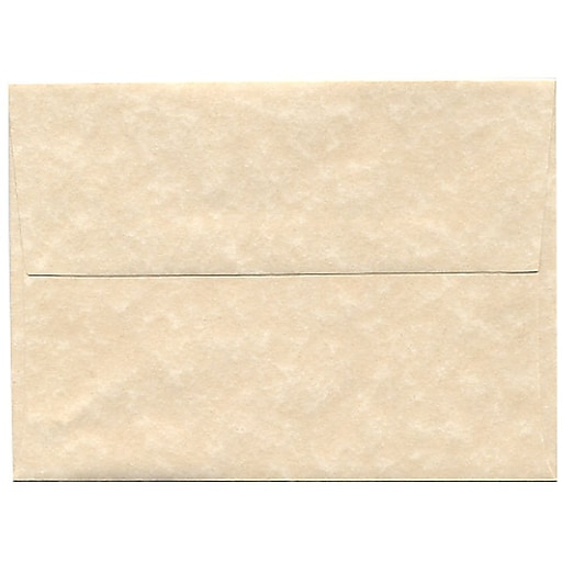 JAM Paper® A6 Parchment Invitation Envelopes, 4.75 x 6.5, Natural Recycled, 50/Pack (34926I)