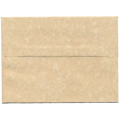 JAM Paper® A6 Invitation Envelopes, 4.75 x 6.5, Parchment Brown Recycled, 50/pack (35220I)